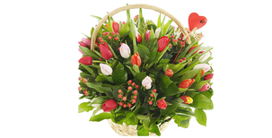 A basket of flowers an elegant gift