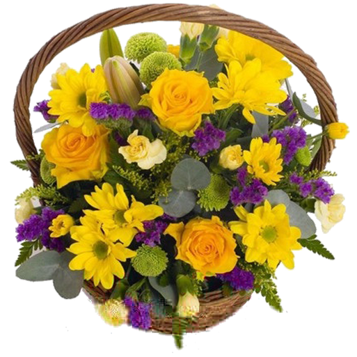A basket of flowers on the holiday
