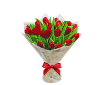 Букет из 17 тюльпанов, Bouquet of 17 tulips