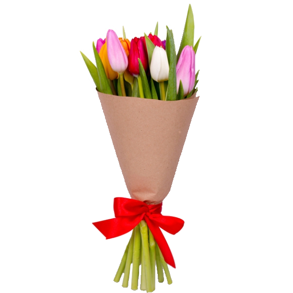 Букет из 9 тюльпанов, Bouquet of 9 tulips