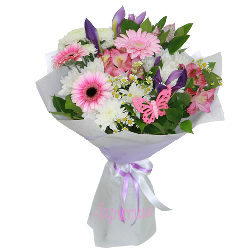 "Букет с герберой ""Фаворит"", Bouquet with gerberas Favorite"