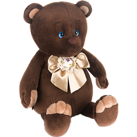 Bear with a beige bow