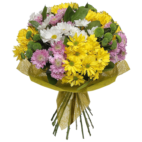 "Букет из Хризантемы ""Неотразимый"", bouquet with chrysanthemum Irresistible"