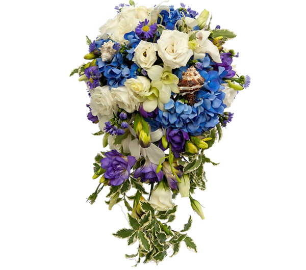 "Букет Невесты ""Аквамариновые берега"", The bride's bouquet aquamarine shore"